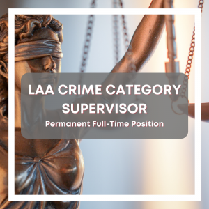 LAA Crime Category Supervisor
